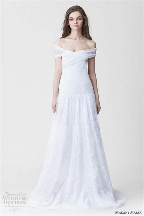Wedding Gown Fabulosity On A Budget by Makany Marta Wedding Dresses Lace Sweep Cheap