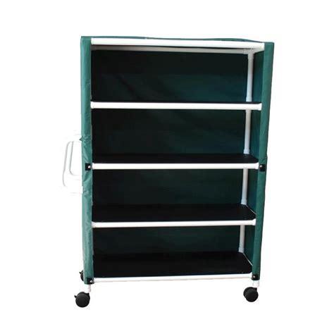 Linen Shelf by Mjm International Four Shelf Linen Cart Cart