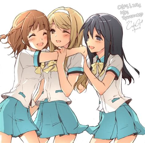 Anime 3 Friends by Anime Friends Anime Anime
