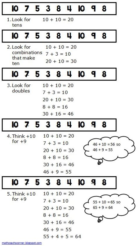 String Math - math coach s corner strategies for adding a string of