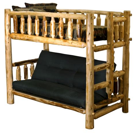 king bunk beds king cedar log bunk bed rustic bedroom