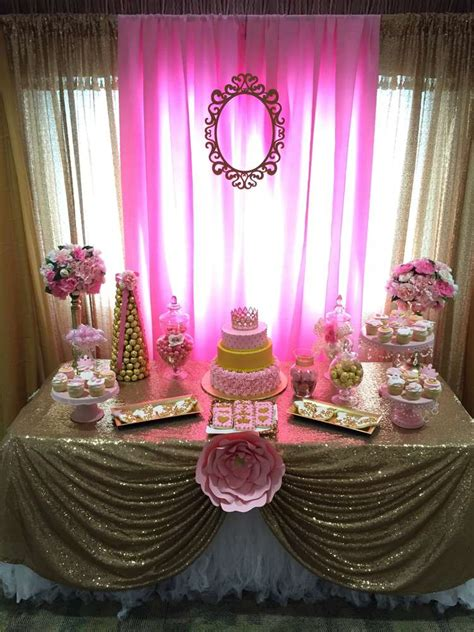 Table Set Decoration 15 Bridal Shower Birthday Baby Shower princess baby shower ideas photo 7 of 21