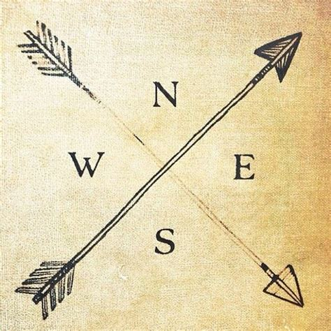 simple native tattoo always know your direction travel inspiration