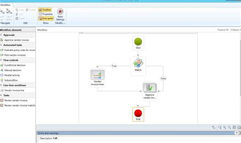 invoice workflow vendor invoice workflow line based microsoft dynamics