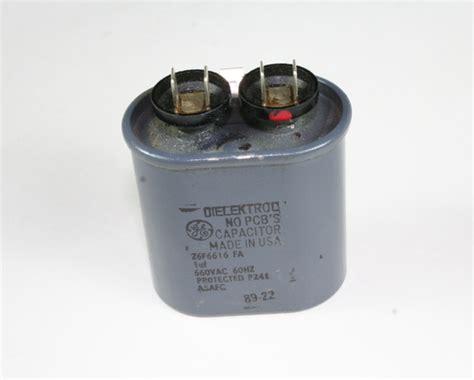 ge electric motor capacitor general electric 1uf 660vac motor run capacitor 26f6616fa ebay