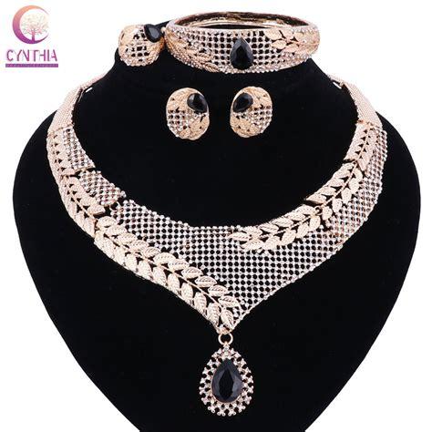 exotic nigerian beaded necklace design top exquisite dubai jewelry set luxury gold color big