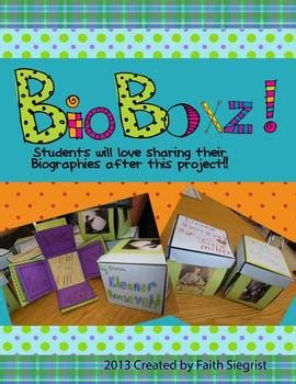 biography project for highschool students bioboxz biography book report project and kit by faith