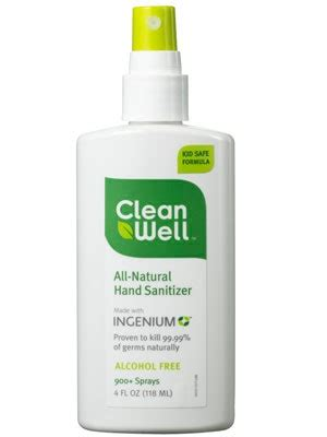 cleanwell  natural hand sanitizer spray review allure