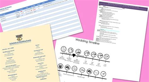 Wedding Itinerary by Free Wedding Itinerary Templates And Timelines