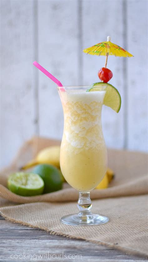 frozen banana daiquiri cooking with curls