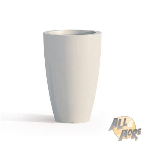 vaso resina bianco vaso resina h50 lucido bianco tondo arredo moderno living