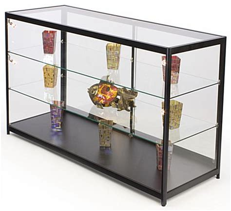 merchandise display case glass top illuminated merchandise display case halogen