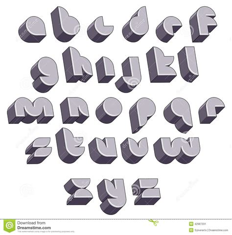 design font round 3d futuristic round font monochrome dimensional alphabet