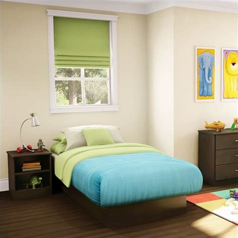 kids twin bedroom set libra kids chocolate twin wood platform bed 3 piece
