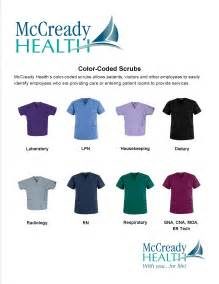 scrub color code mccready health launches color coded scrubs mccready