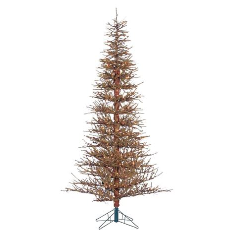 artificial twig trees with lights sterling 7 ft pre lit hard needle brown twig artificial