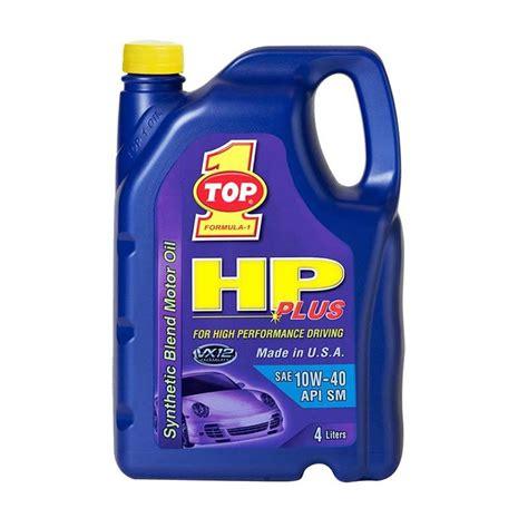 Pelumas Oli Top 1 Jual Top 1 Hp Plus 10w 40 Synthetic Pelumas Mobil 4 Liter
