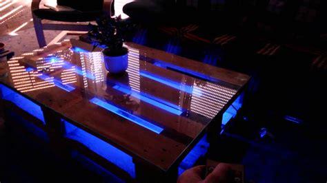 tisch mit beleuchtung diy europaletten tisch mit led beleuchtung