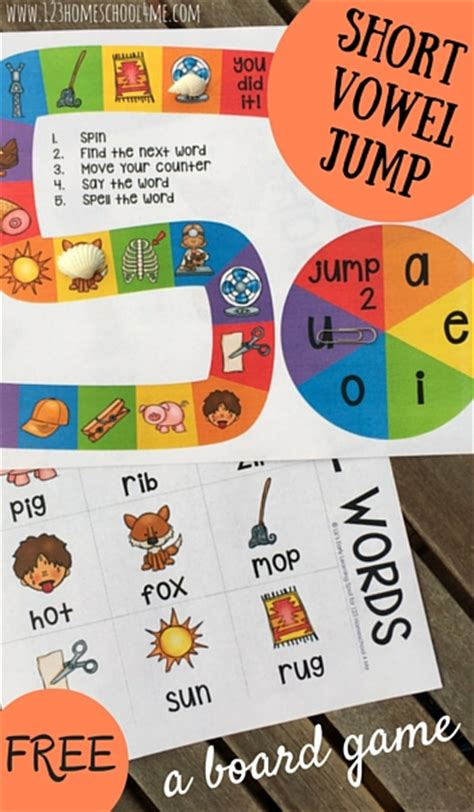 printable short vowel board games free short vowel board game