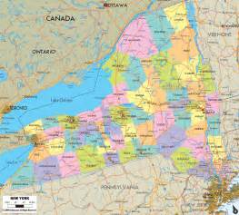 New York Map by Map Of New York Counties Images