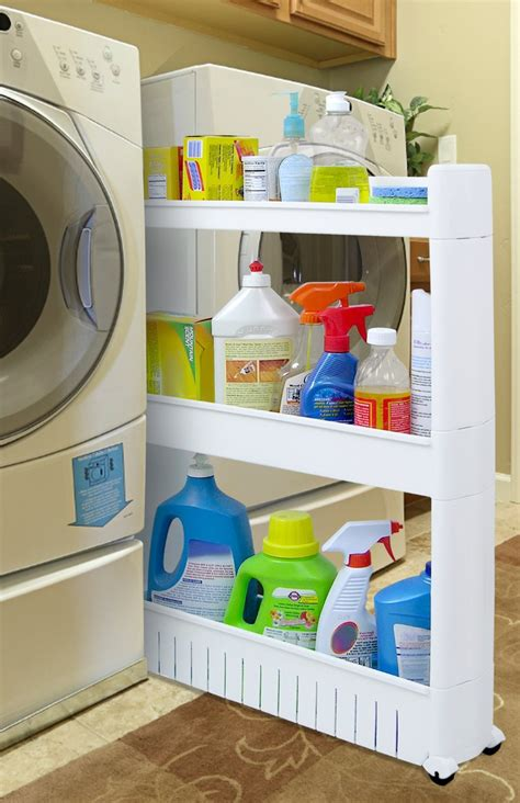 Storage Solutions For Laundry Rooms Slim Slide Out Storage Tower For Laundry Rooms