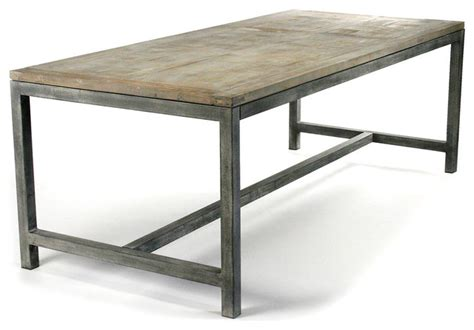 industrial dining tables abner industrial modern rustic bleached oak gray dining