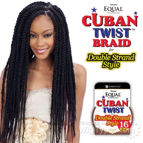 cuban twist hair freetress braid hair half wigs ponytail full cap