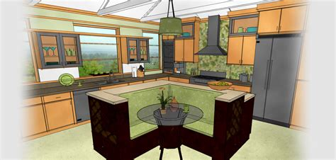 kitchen interior design software technical drawing of a kitchen generated by home designer