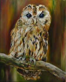 owl painting by evelinevdp on deviantart