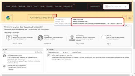 developer view in alfresco arvixe blog