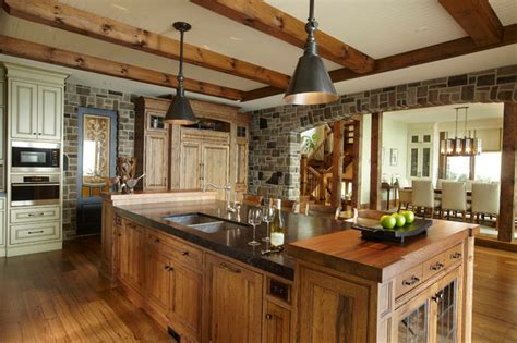 Houzz Kitchen Islands With Seating by The Cottage Rustic Kitchen Toronto By Parkyn Design