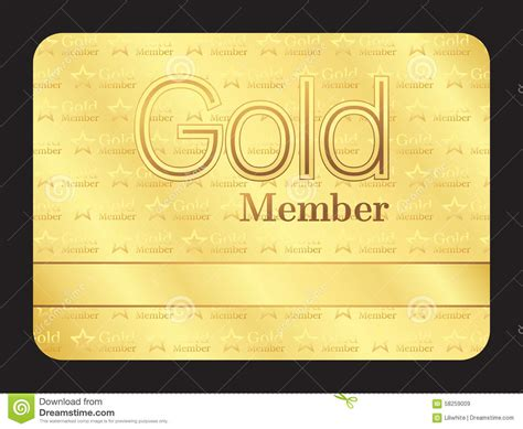 gold membership card template gold member club card with small pattern stock