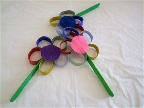 Toilet Paper Roll Flowers Craft - easy crafts for preschoolers memes