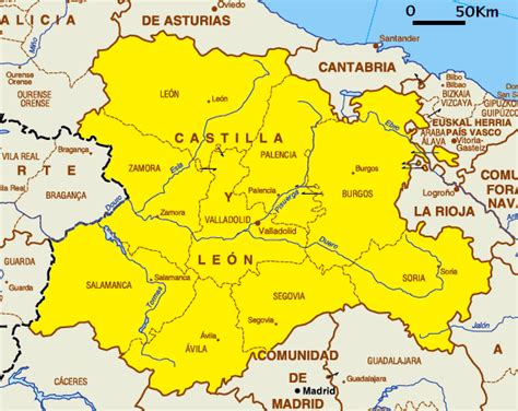 castilla leon castile and leon map information map of spain pictures and information