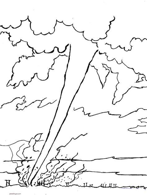 de desastres naturales para colorear dibujos de tornados y huracanes para colorear