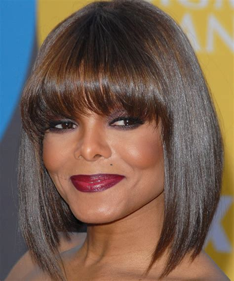 haircuts jackson janet jackson medium straight formal hairstyle