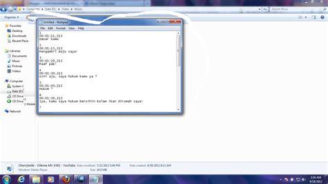 membuat html di notepad raffi iskandar blog cara membuat subtitle dengan notepad