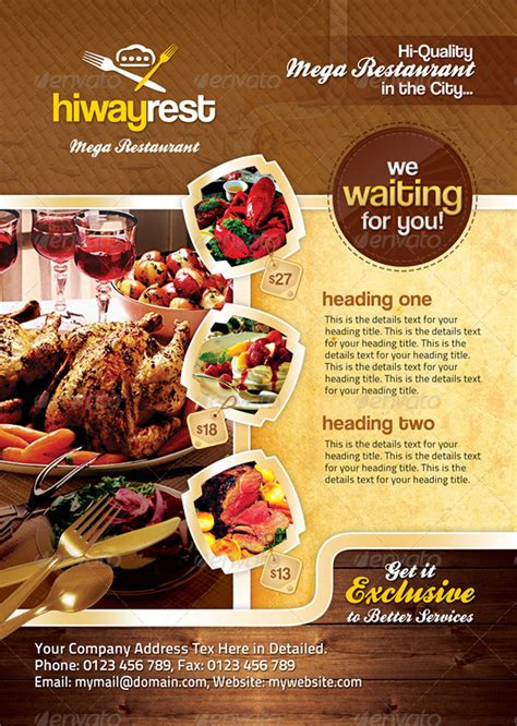 15 Best Restaurant Design Flyer Templates Best Food Templates