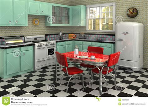 How To Renew Old Kitchen Cabinets 1950 s kitchen stock photo image 19920880