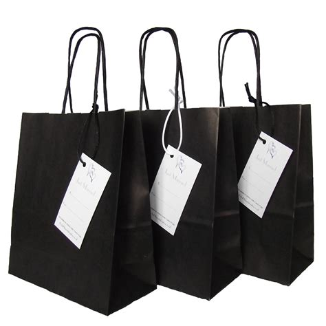 black wedding gift bags wedding paper black gift favour bag with just married label