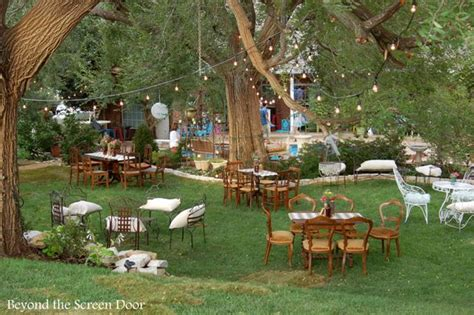 how to have a backyard wedding reception backyard wedding reception beyond the screen door