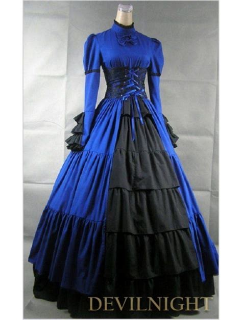 a simple s victorian dress from new look pattern a6319 the pragmatic costumer blue and black long sleeves masquerade gothic ball gowns victorian dress patterns for sale 1800