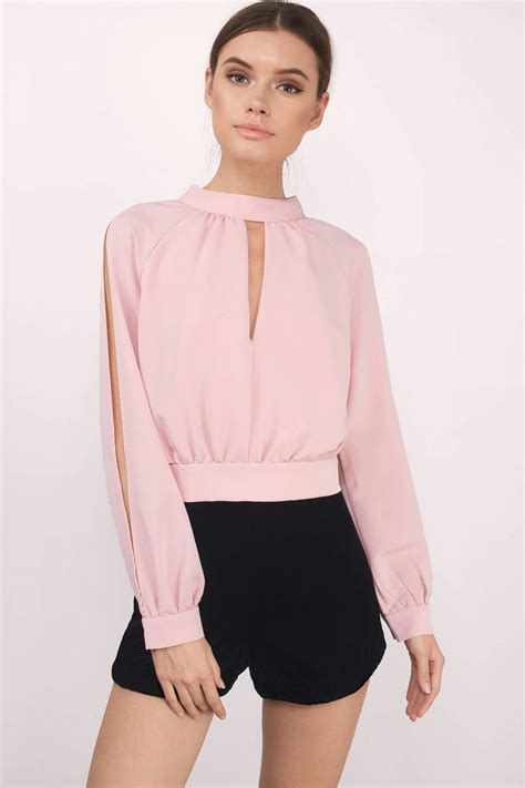 Id Sleeve Blouse blush blouse pink blouse boat neck blouse 25 00