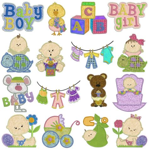 embroidery applique baby machine applique embroidery patterns 16 designs