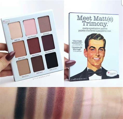 The Balm Meet Matte Trimony Palette Original the balm meet matte trimony palette makeup the o jays