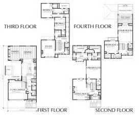 4 Story Townhouse Floor Plans by 4 Story Townhouse Floor Plan For Sale