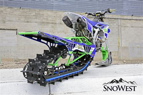 snow motocross snowest snow bike build bringing single track to the steep