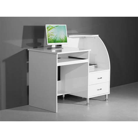 mars compact white high gloss computer desk computer