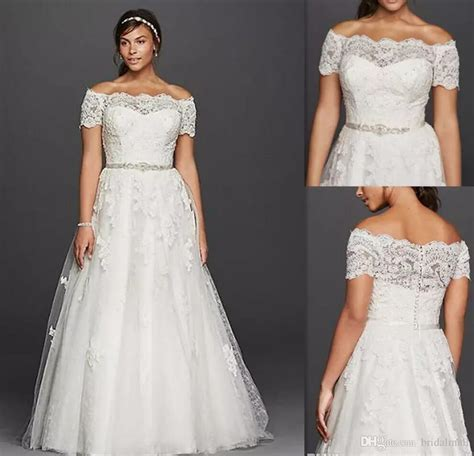 Discount Plus Size Wedding Dresses Off The Shoulder Sheer