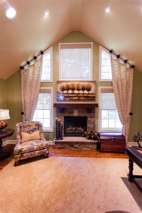 vaulted ceiling curtain ideas 25 best ideas about tall window treatments on pinterest